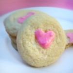 White Chocolate and Rosewater Shortbread Biscuits