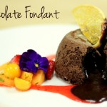 Oozing chocolate fondant