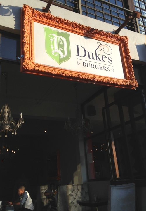 Entrance to Dukes Burgers in Greenside